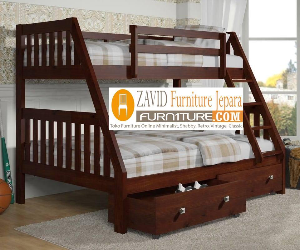 tempat tidur tingkat3 - Jual Tempat Tidur Anak Bogor Minimalis Modern