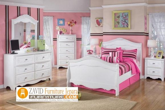 kamar set anak perempuan putih duco - Jual Kamar Set Semarang Anak Perempuan Putih Duco Minimalis