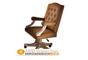 Kursi Kantor Demak Sofa Minimalis Kayu Jati Warna Coklat
