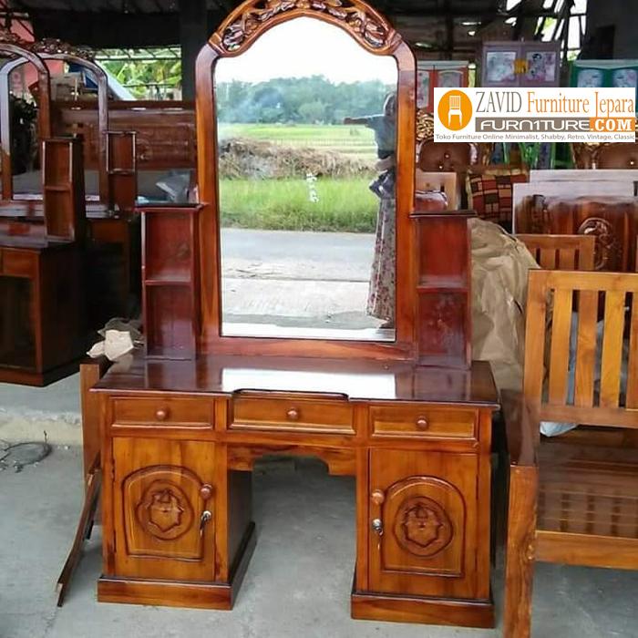 meja rias1 - Jual Meja Rias Lampung Kayu Jati Ukiran Minimalis