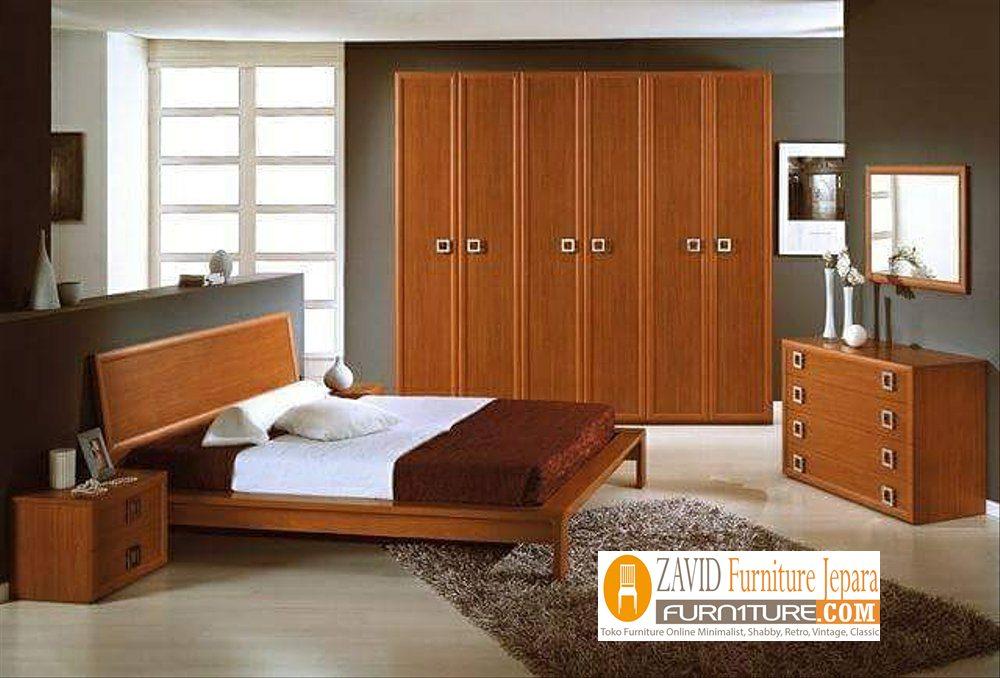 set-kamar-minimalis-jati Set Kamar Minimalis Di Magelang Kayu Jati Modern
