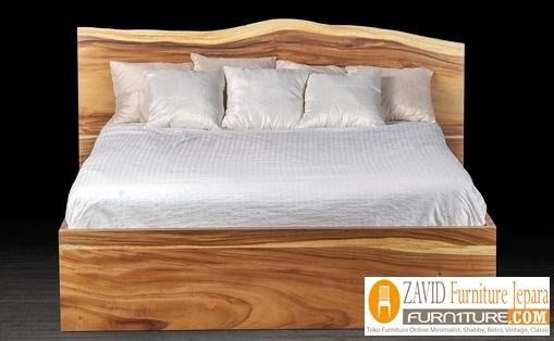 tempat-tidur-kayu-trembesi Tempat Tidur Kayu Trembesi Suar Meh Minimalis Harga Murah Jepara Terbaru