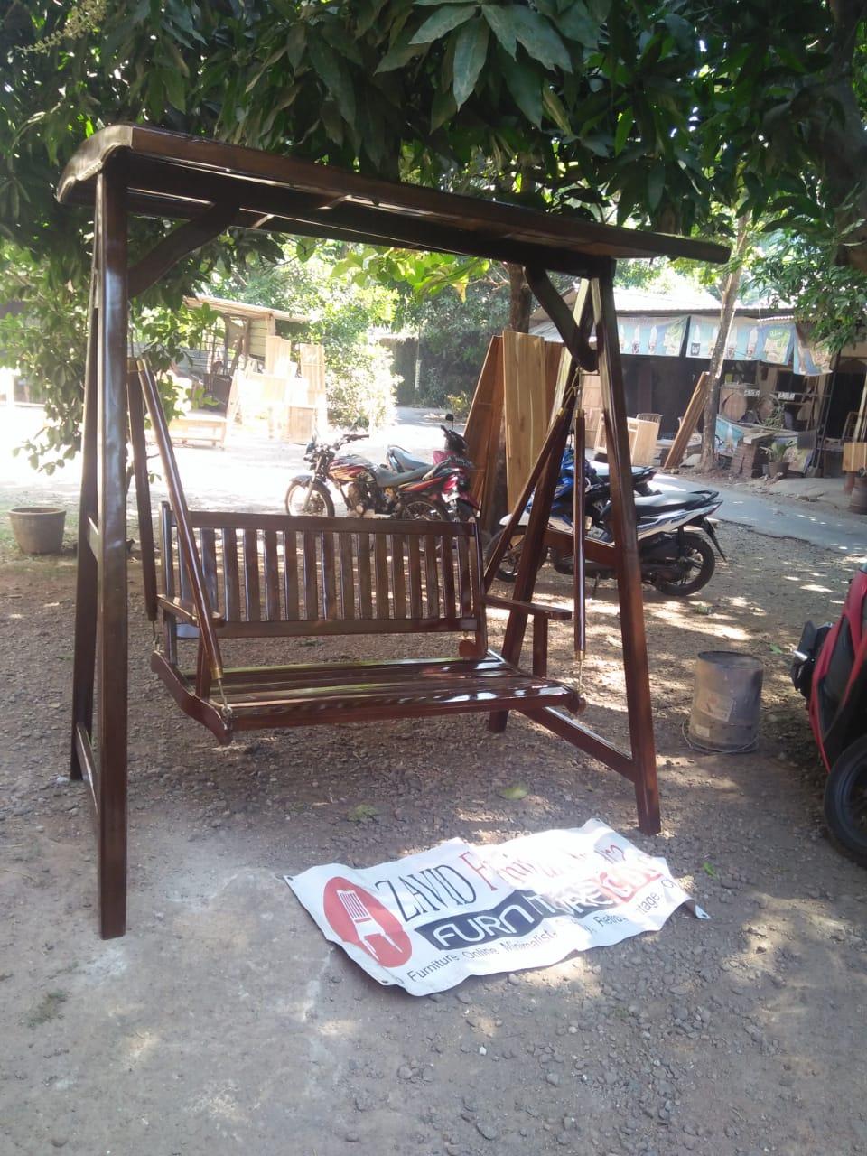 ayunan-kayu-jati Jual Ayunan Teras Jakarta Kayu Jati Minimalis Modern