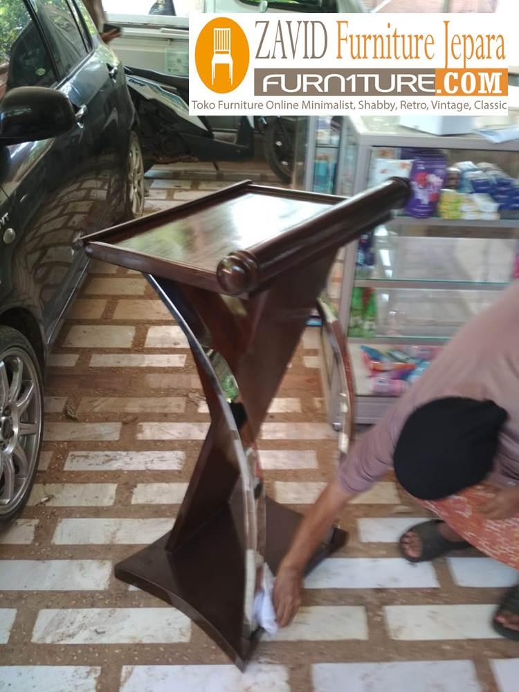jual-mimbar-podium-stainless Mimbar Masjid Podium Depok Kayu Jati Minimalis Variasi Stainless