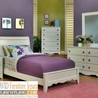 Kamar Set Anak Perempuan Kediri Minimalis Putih Duco