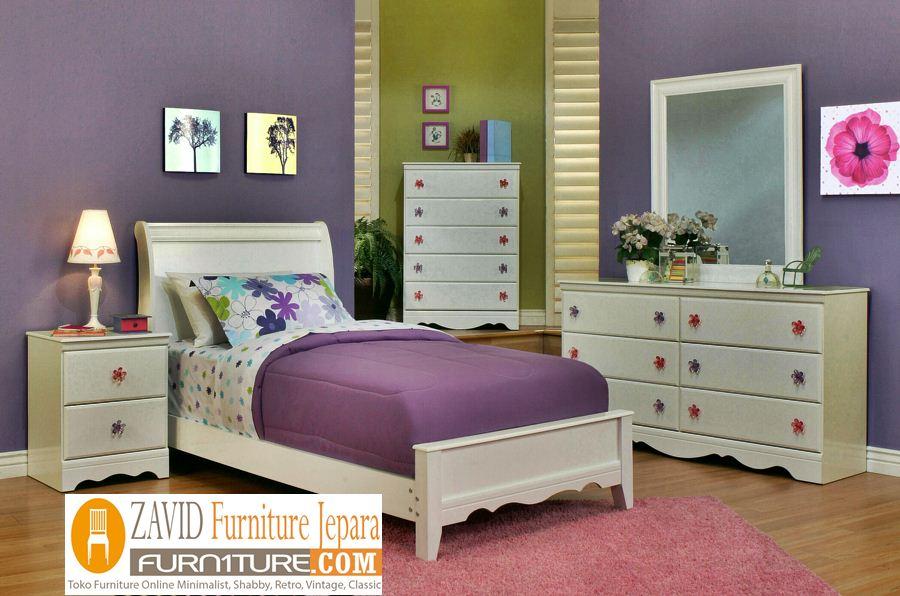 kamar-set-anak-perempuan-minimalis-putih-duco Kamar Set Anak Perempuan Kediri Minimalis Putih Duco