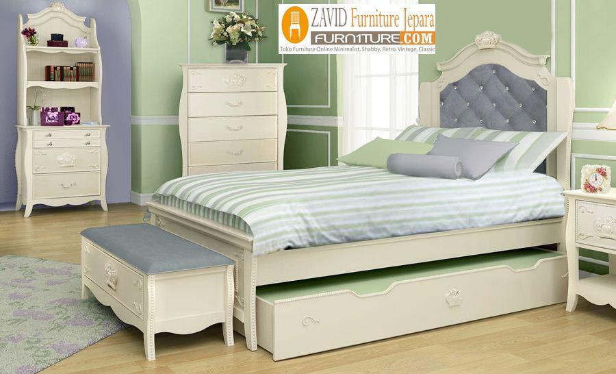 kamar-set-anak-putih-duco-sorong Kamar Set Anak Gresik Putih Duco Sorong Modern
