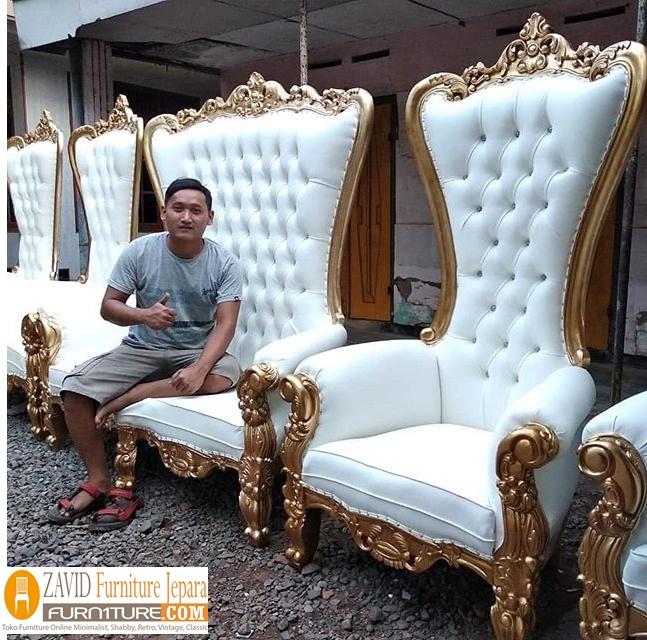 kursi-pengantin-mewah Jual Kursi Pengantin Surabaya Kayu Jati Minimalis Modern