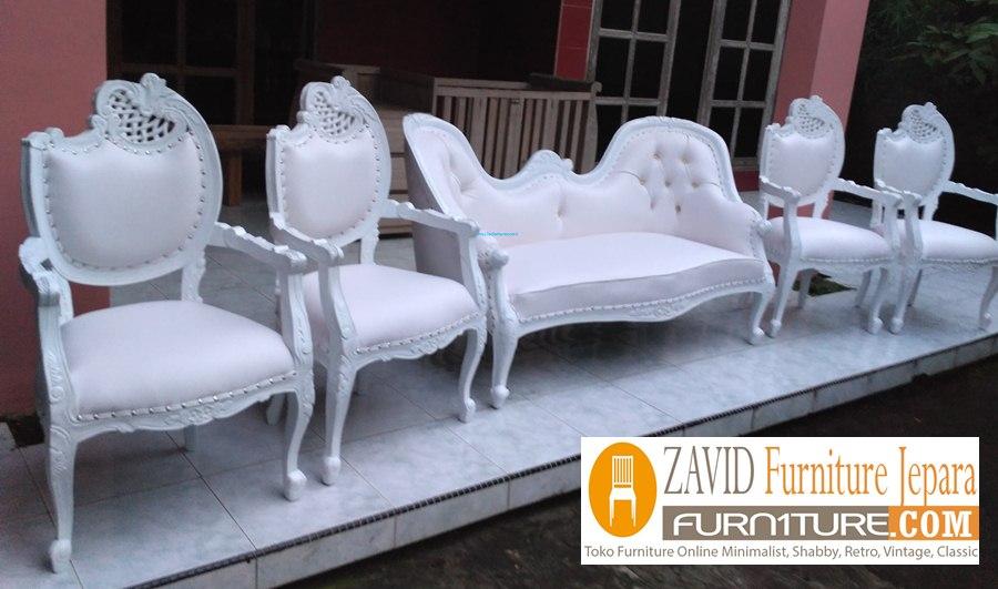 kursi-pengantin-putih-duco Kursi Pengantin Jakarta Putih Duco Minimalis Harga Murah