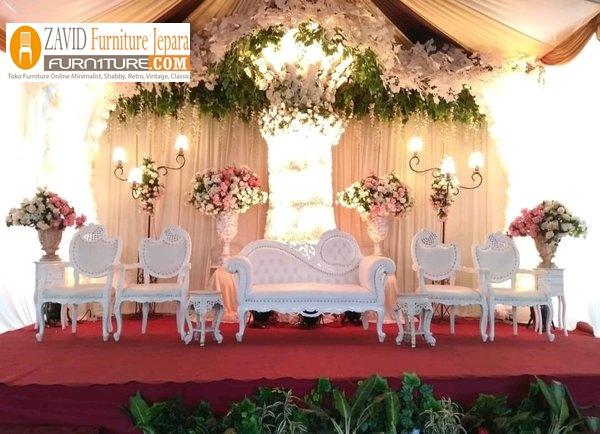 kursi-pengantin-putih Jual Kursi Pengantin Surabaya Kayu Jati Minimalis Modern