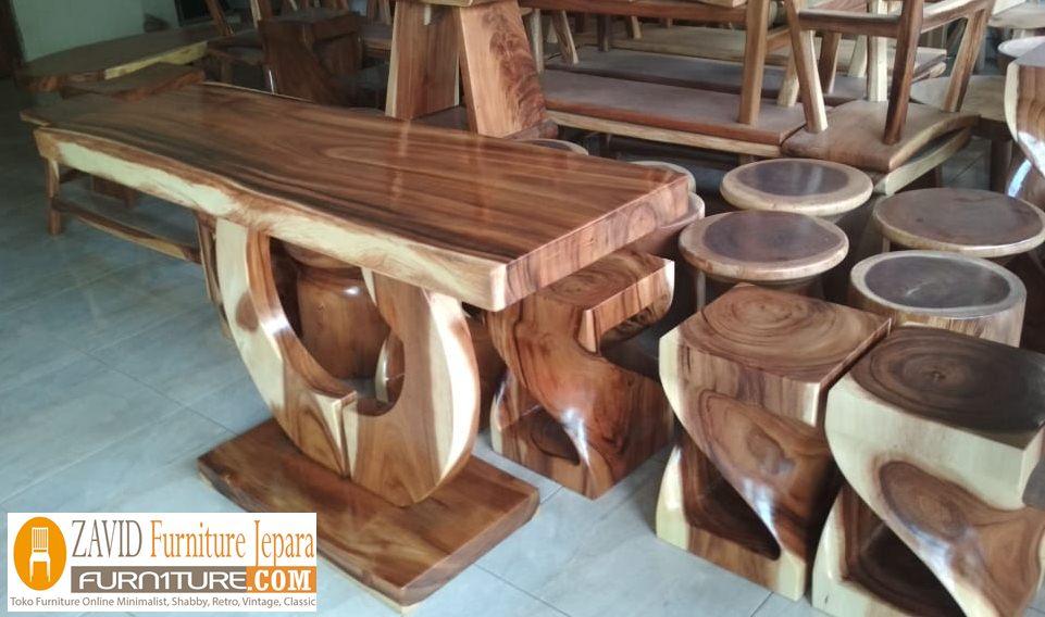 kursi-stool-trembesi Kursi Stool Cafe Madiun Kayu Trembesi Modern Unik