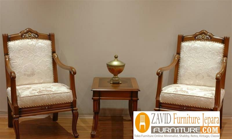 kursi-teras-mewah-klasik Jual Kursi Teras Pekalongan Kayu Jati Klasik Walnut