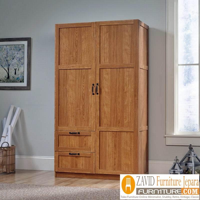 lemari-pakaian-kayu-jati Lemari Pakaian Pekalongan Kayu Jati Minimalis 2 pintu