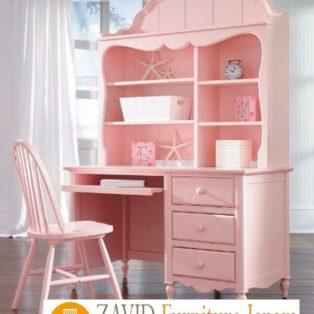 Meja Belajar Anak Perempuan Warna Pink Model Terbaru