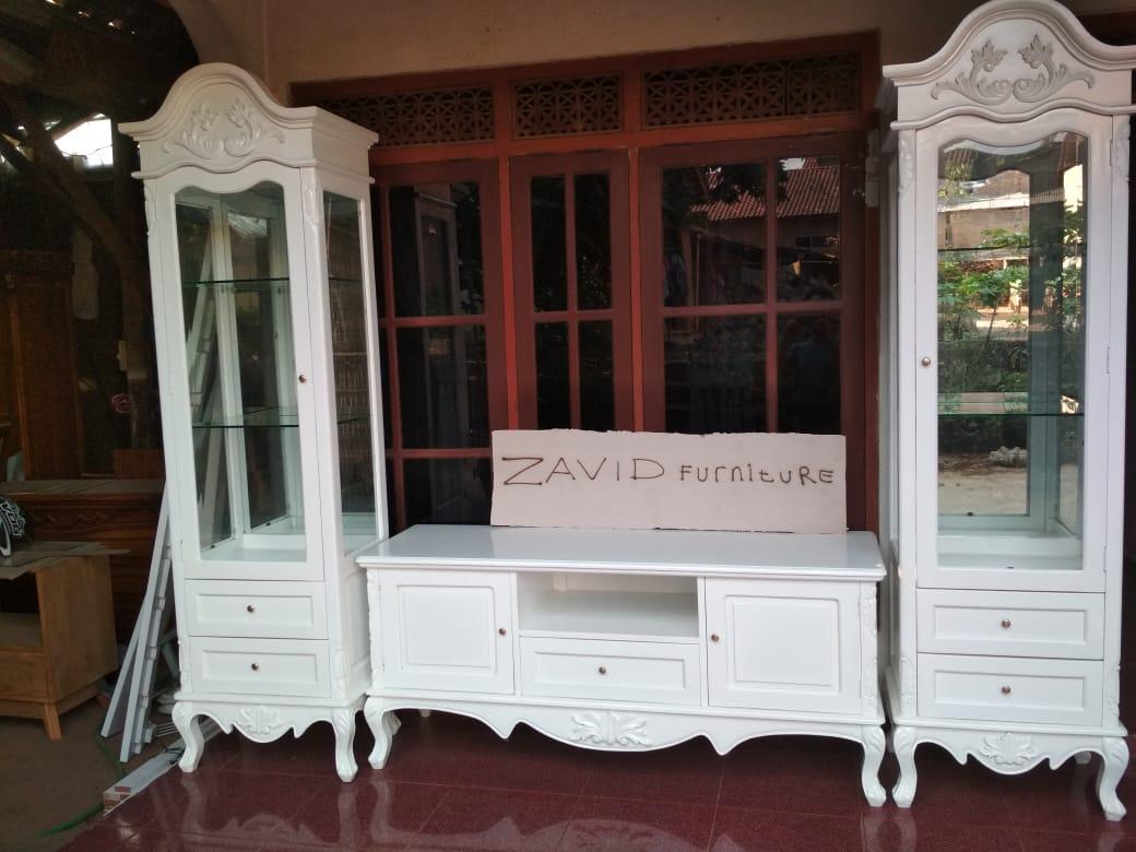 meja rak tv putih duco - Meja Rak Tv Bandung Putih Duco Modern Ukiran Minimalis