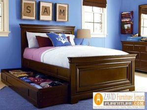 Jual Tempat Tidur Anak Kediri Kayu Jati Minimalis