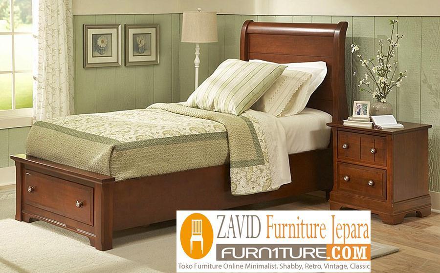 tempat-tidur-laci-minimalis-kayu-jati Tempat Tidur Kediri Model Laci Minimalis Kayu Jati