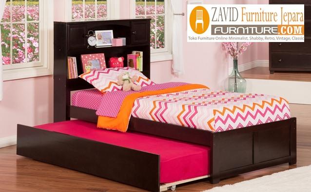 tempat-tidur-sorong-minimalis-kayu-jati Tempat Tidur Magelang Sorong Kayu Jati Minimalis