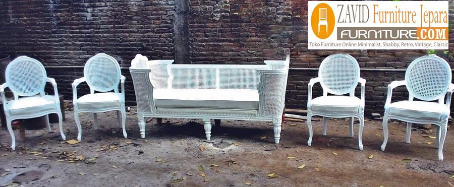 kursi-pelaminan-rotan-warna-putih Kursi Pelaminan Rotan Terbaru Modern Minimalis