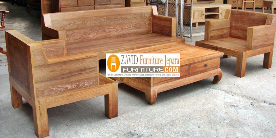 kursi-tamu-kayu-jati-minimalis-sederhana-natura Kursi Tamu Kediri Kayu Jati Minimalis Klasik Sederhana
