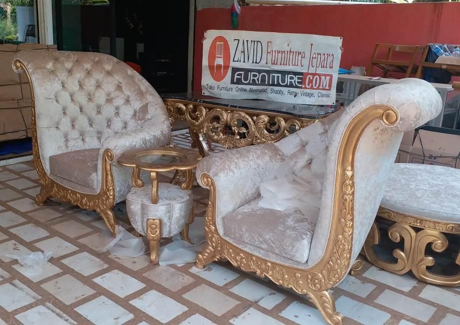 kursi-teras-mewah-ukiran Kursi Teras Lamongan Mewah Sofa Ukiran Warna Emas