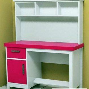 Meja Belajar Depok Anak Perempuan Pink Putih Minimalis