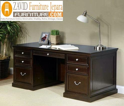 meja kantor warna hitam - Jual Meja Kantor Malang Direktur Minimalis
