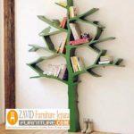 Rak Buku Pohon Minimalis Model Sederhana Harga Murah Dari Kayu