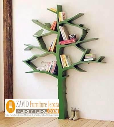 rak-buku-pohon-dinding-minimalis-murah-kalsik Rak Buku Pohon Minimalis Model Sederhana Harga Murah Dari Kayu