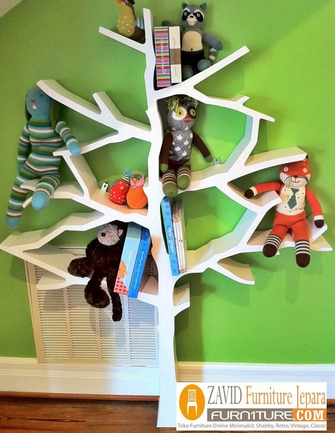 rak-buku-pohon Rak Buku Pohon Minimalis Model Sederhana Harga Murah Dari Kayu