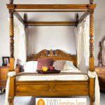 Tempat Tidur Kanopi Klasik Kayu Jati Ukiran Terbaru Jepara