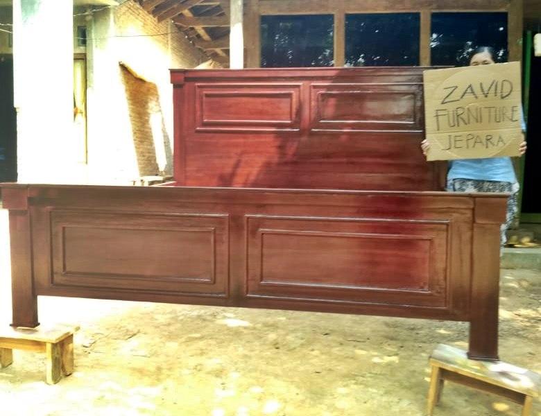 tempat-tidur-kayu-jati-minimalis-warna-coklat-sederhana Jual Tempat Tidur Malang kayu Jati Minimalis Salak Brown