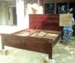 Jual Tempat Tidur Malang kayu Jati Minimalis Salak Brown