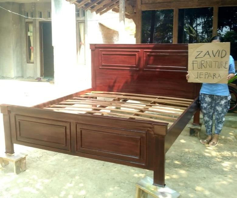 tempat-tidur-kayu-jati-model-minimalis-sederhana-desain-baru Jual Tempat Tidur Malang kayu Jati Minimalis Salak Brown
