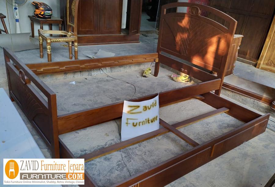 tempat-tidur-sorong-minimalis-jati Tempat Tidur Malang Model Sorong Jati Minimalis Natural