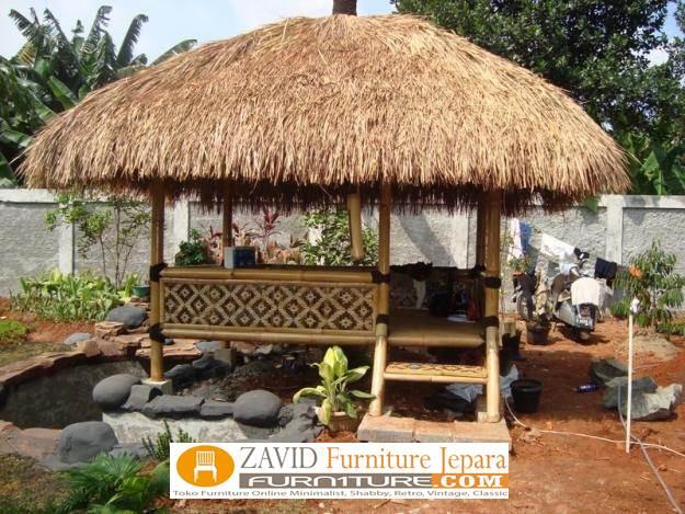8 Gazebo Taman Minimalis Dengan Atap Jerami