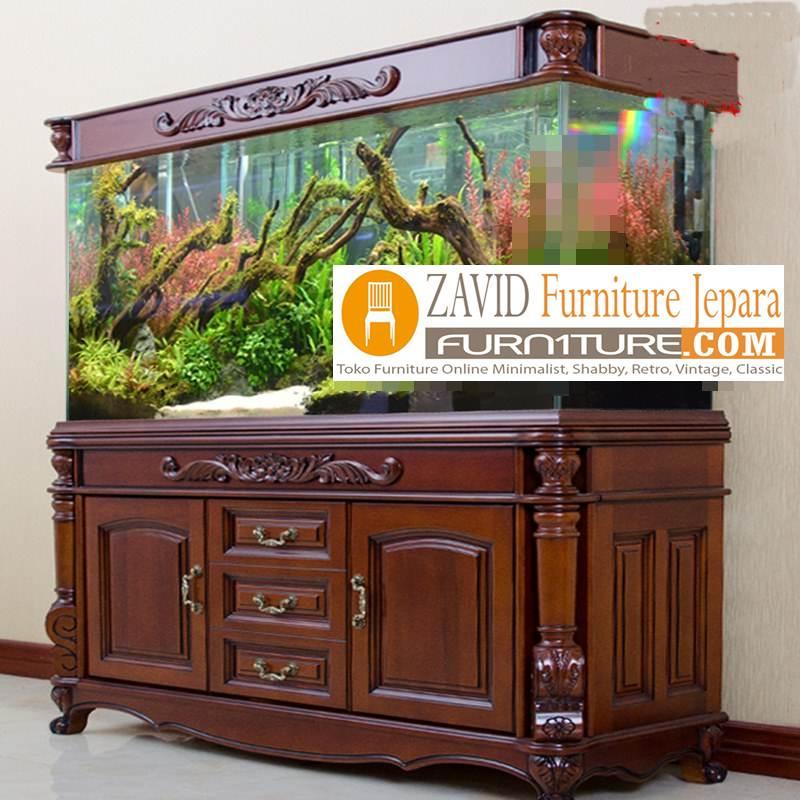 Lemari Meja Aquarium Mewah Klasik Jepara Jual Lemari Aquarium Kayu Jati Harga Lemari Aquarium Classic Ukir Desain Lemari Aquarium Ukiran Terbaru Model Lemari Aquarium Klasik Modern - Meja Aquarium Mewah Klasik Di Semarang
