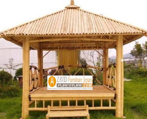 gazebo-taman-minimalis-bahan-baku-dari-bambu Jual Gazebo Minimalis Bahan Baku Berkualitas Tinggi