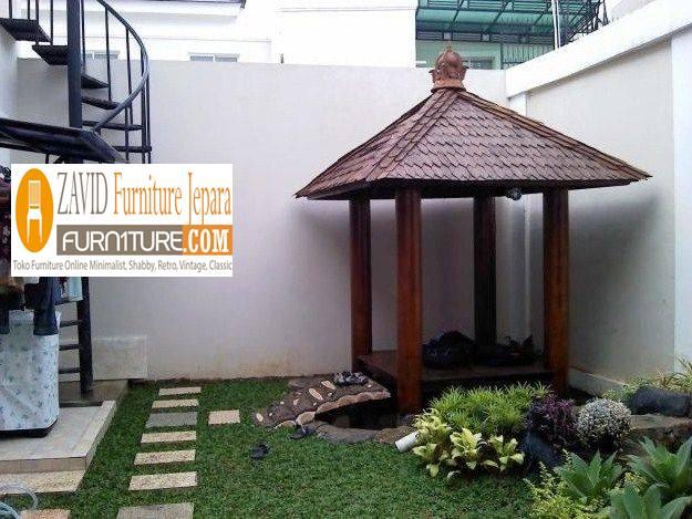 gazebo-taman-samping-rumah-cocok-dengan-desain-minimalis Jual Gazebo Minimalis Bahan Baku Berkualitas Tinggi