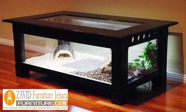 meja aquarium minimalis kayu jati - Meja Aquarium Kayu Jati Minimalis