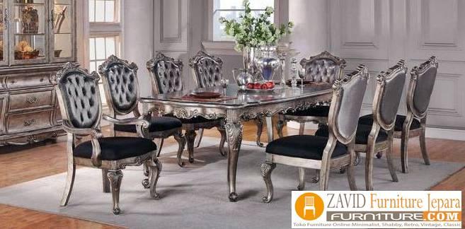 meja-makan-klasik-8-kursi-baru Meja Makan 8 Kursi Klasik Mewah Modern Kayu Jati