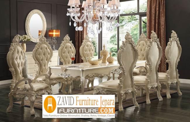 meja-makan-mewah-8-kursi-ukiran-klasik-relief Meja Makan 8 Kursi Klasik Mewah Modern Kayu Jati