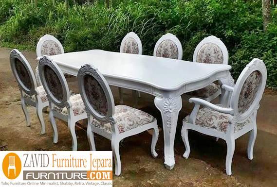 meja-makan-mewah-8-kursi Meja Makan 8 Kursi Klasik Mewah Modern Kayu Jati