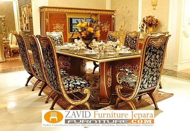 set-meja-kursi-8-dudukan-mewah Meja Makan 8 Kursi Klasik Mewah Modern Kayu Jati