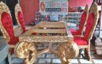 Jual Set Meja Makan Mewah Ukiran Royal Jepara