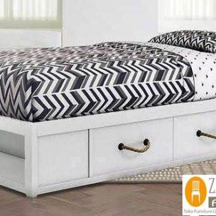 Tempat Tidur Laci Minimalis Warna Putih