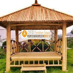 Gazebo Bambu Semarang Taman Minimalis Sederhana