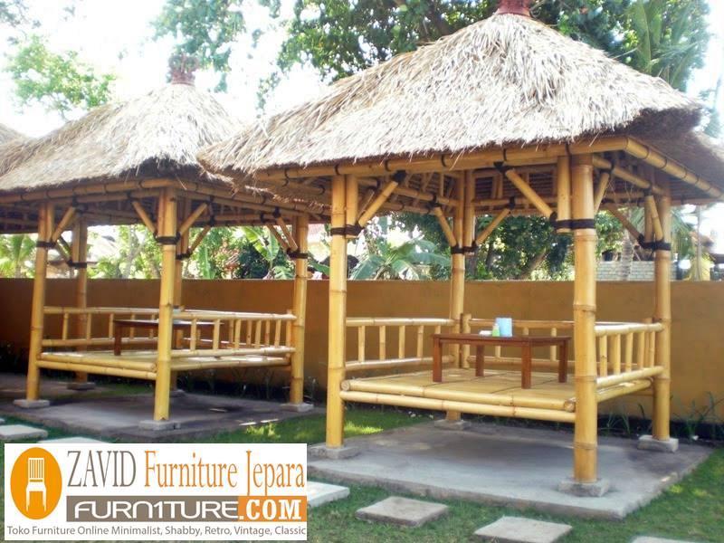 gazebo-bambu-modern Gazebo Bambu Semarang Taman Minimalis Sederhana