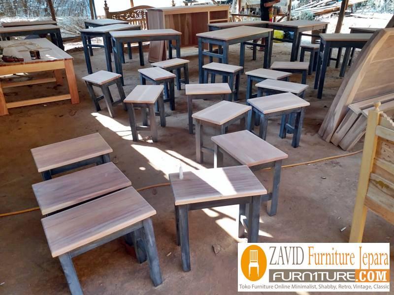 kursi cafe minimalis murah - Kursi Cafe Bandung Kayu Jati Minimalis Murah