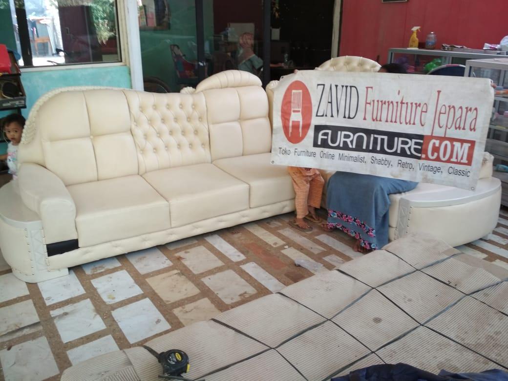kursi-tamu-sudut-jati-warna-putih Kursi Tamu Sudut Sofa Mewah Cat Duco